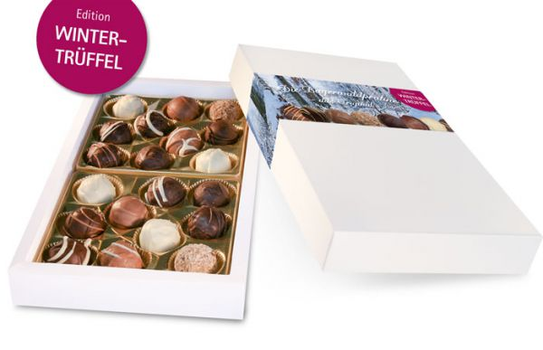 Große Pralinenmischung im Geschenkkarton – Edition Wintertrüffel
